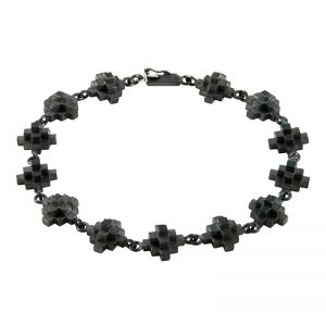 product Andes Cross bracelet oxidized silver