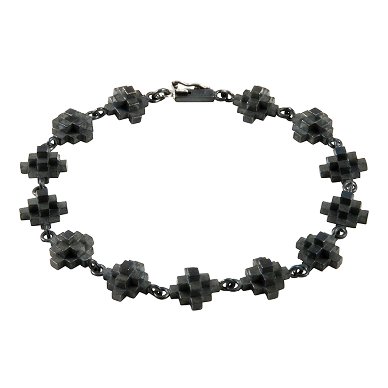 product Andes Cross bracelets oxidized silver