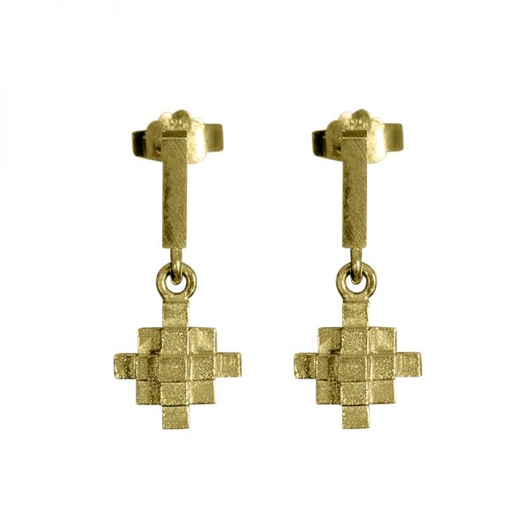 product Andes Cross earrings gold