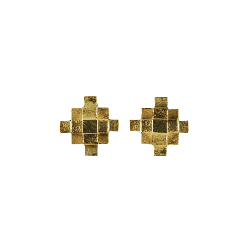 product Andes Cross stud earrings gold