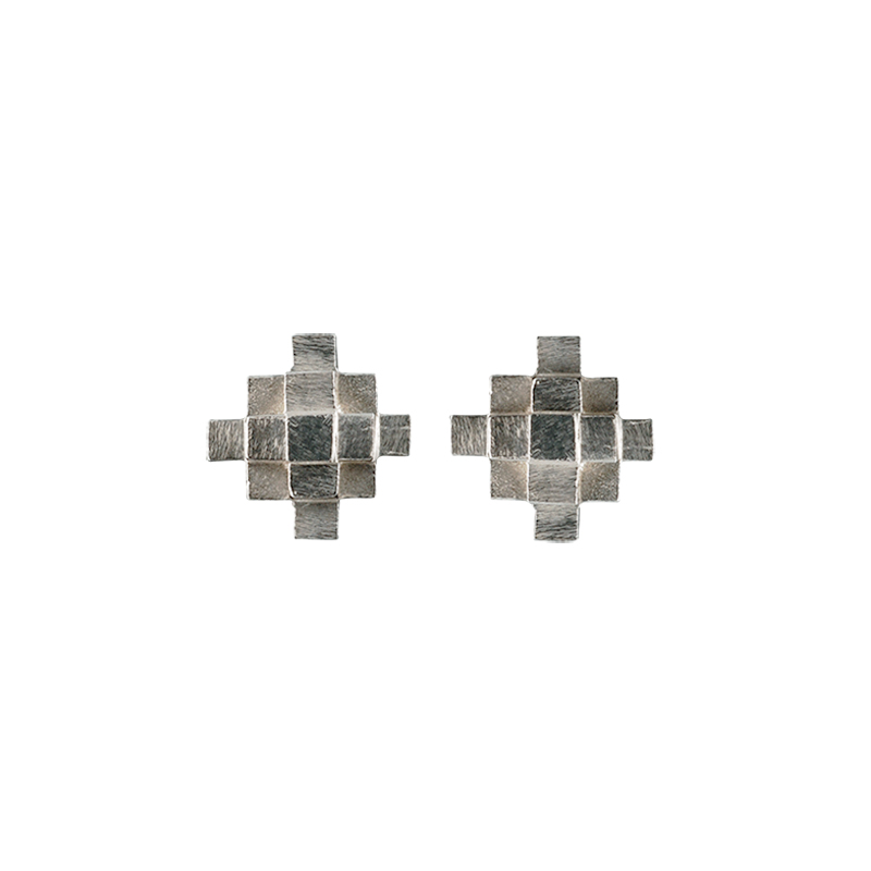 product Andes Cross stud earrings silver