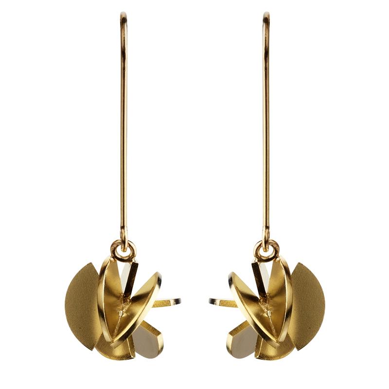 product Fan Sphere earrings S gold