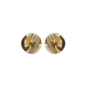 product Fan Sphere stud earrings XS gold