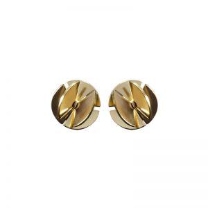 product Fan Sphere stud earrings XS gold