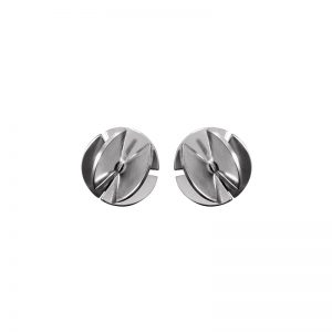 product Fan Sphere stud earrings XS silver