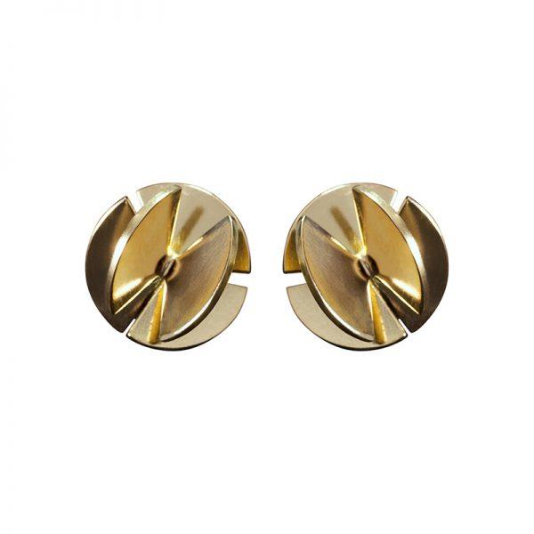 product Fan Sphere stud earrings S gold