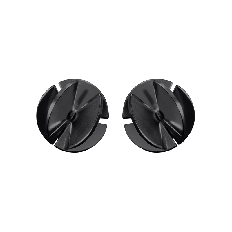 product Fan Sphere stud earrings S oxidized silver