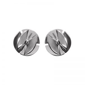 product Fan Sphere stud earrings S silver