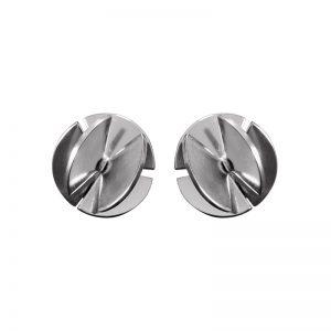 product Fan Sphere stud earrings S silver