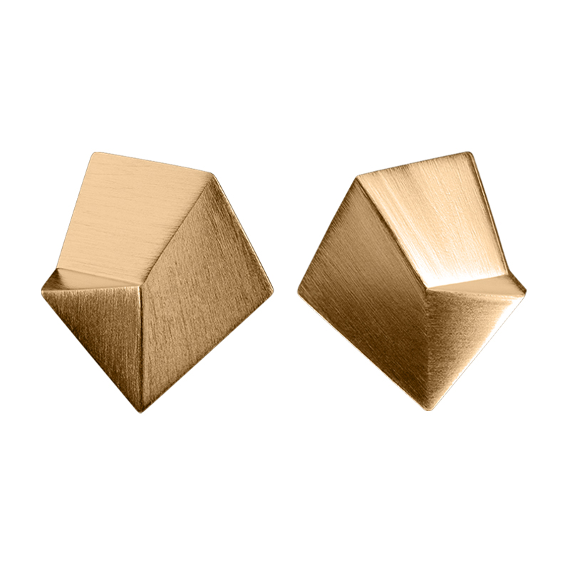 product Flake stud earrings M gold