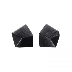 product Flake stud earrings S oxidized silver