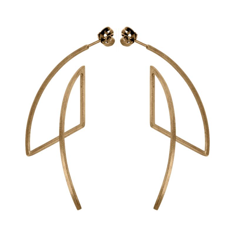 product Fold earrings gold