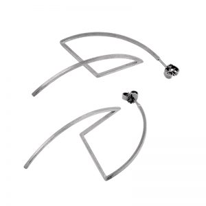 product Fold earrings silver