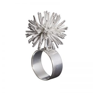 product Pompon ring silver