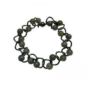 product Twist bracelet silver labradorite