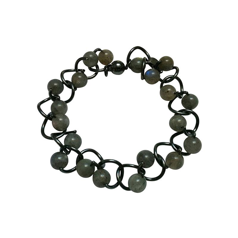 product Twist bracelets silver labradorite