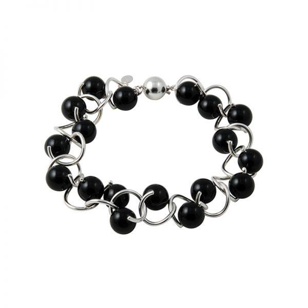 product Twist bracelet silver onyx