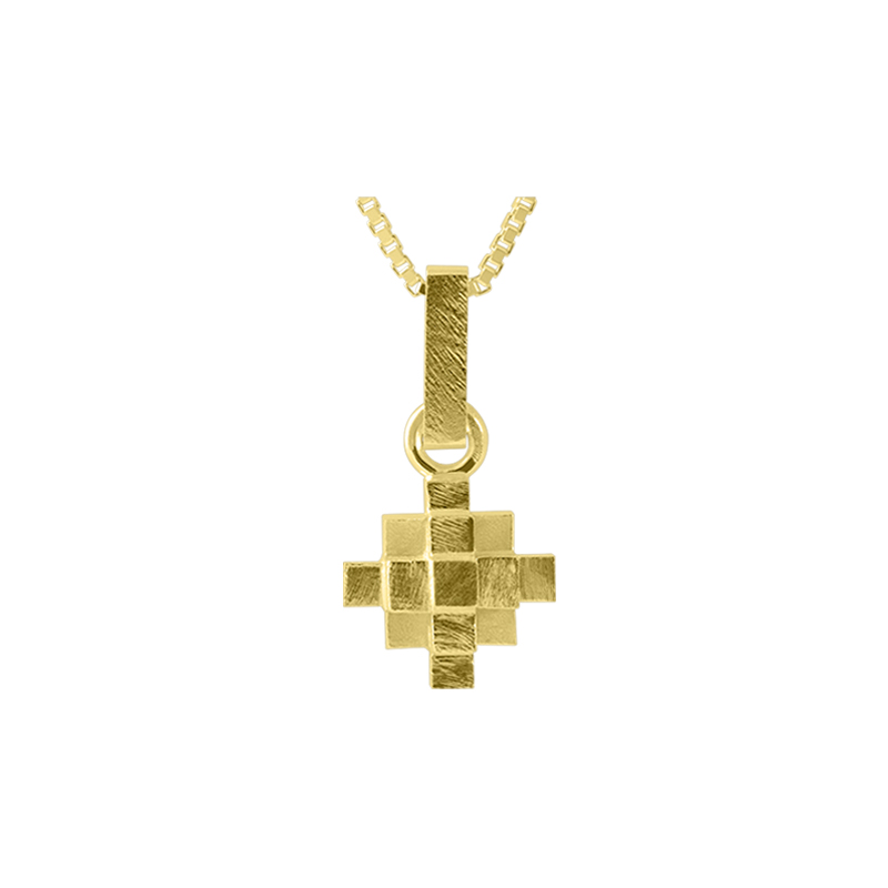 product Andes Cross pendant necklaces gold