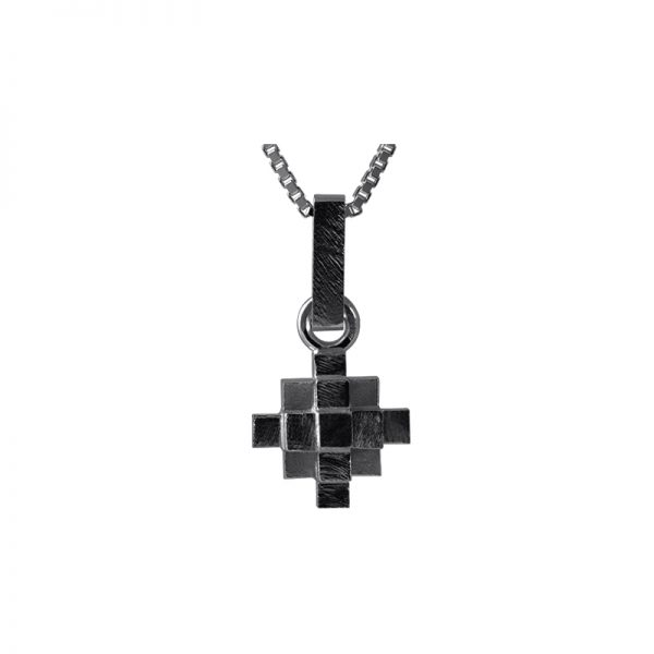 product Andes Cross necklace oxidized silver