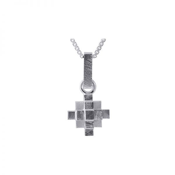 product Andes Cross necklace silver