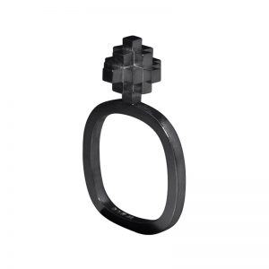 product Andes Cross rings oxidized silver