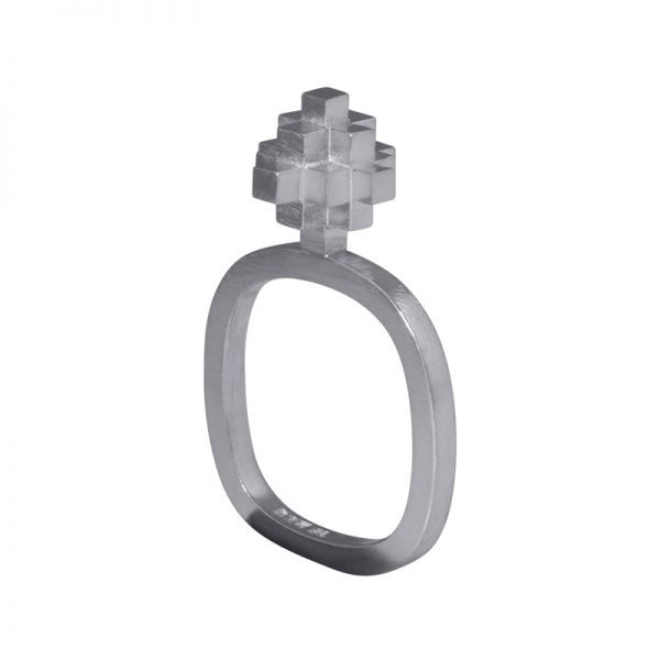 product Andes Cross ring silver
