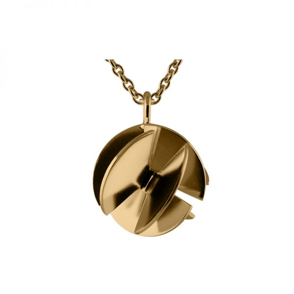 product Fan Sphere necklace M gold