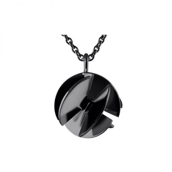 product Fan Sphere necklace M oxidized silver