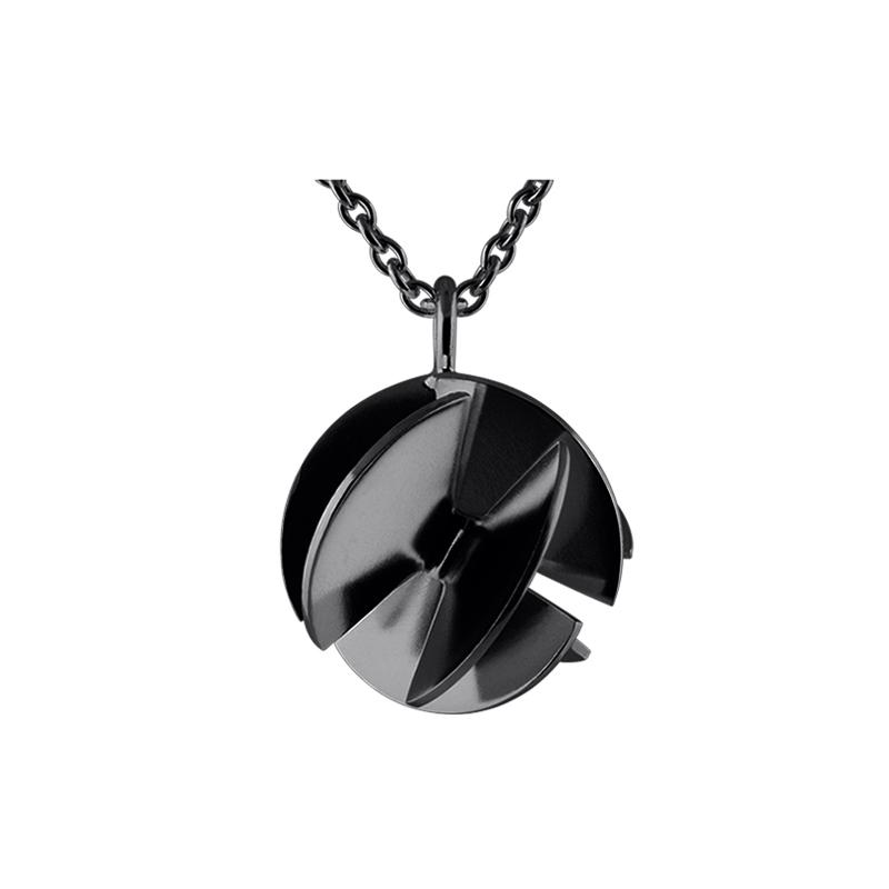 product Fan Sphere pendant necklaces M oxidized silver