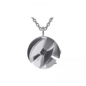 product Fan Sphere necklace M silver