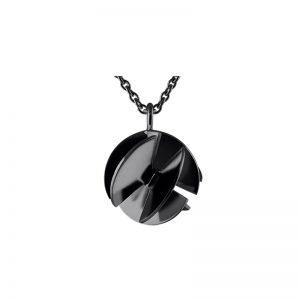 product Fan Sphere pendant necklaces S oxidized silver