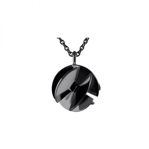 product Fan Sphere pendant necklaces S oxidized silver