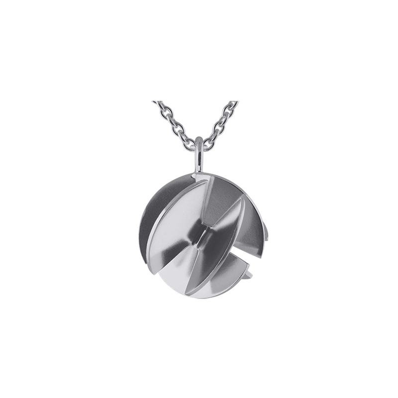 product Fan Sphere pendant necklaces S silver