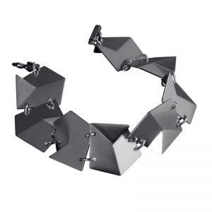 product Flake bracelet M oxidized silver