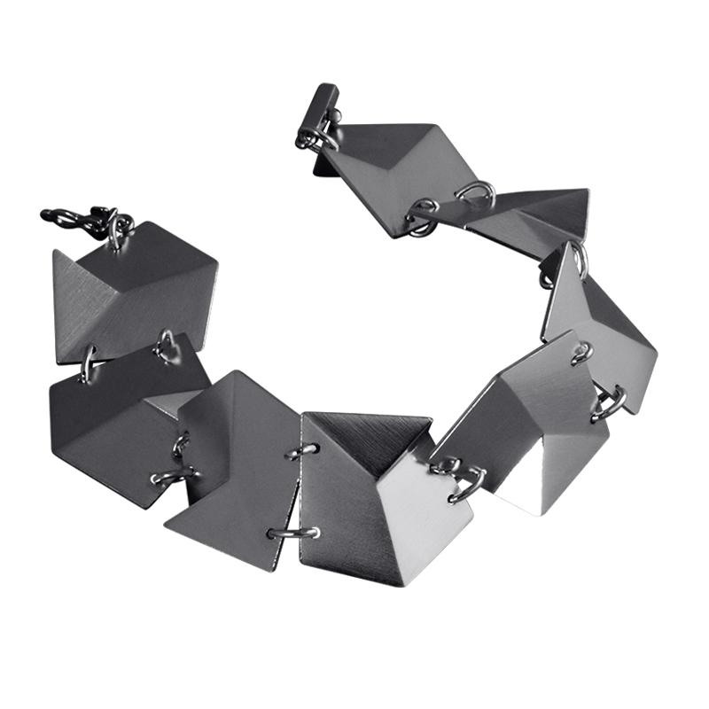 product Flake bracelets M oxidized silver