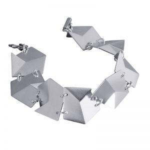 product Flake bracelet M silver