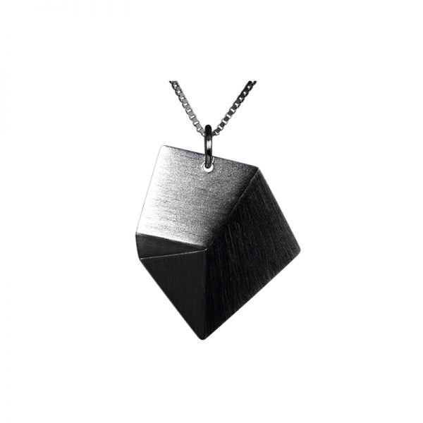 product Flake necklace M oxidized silver