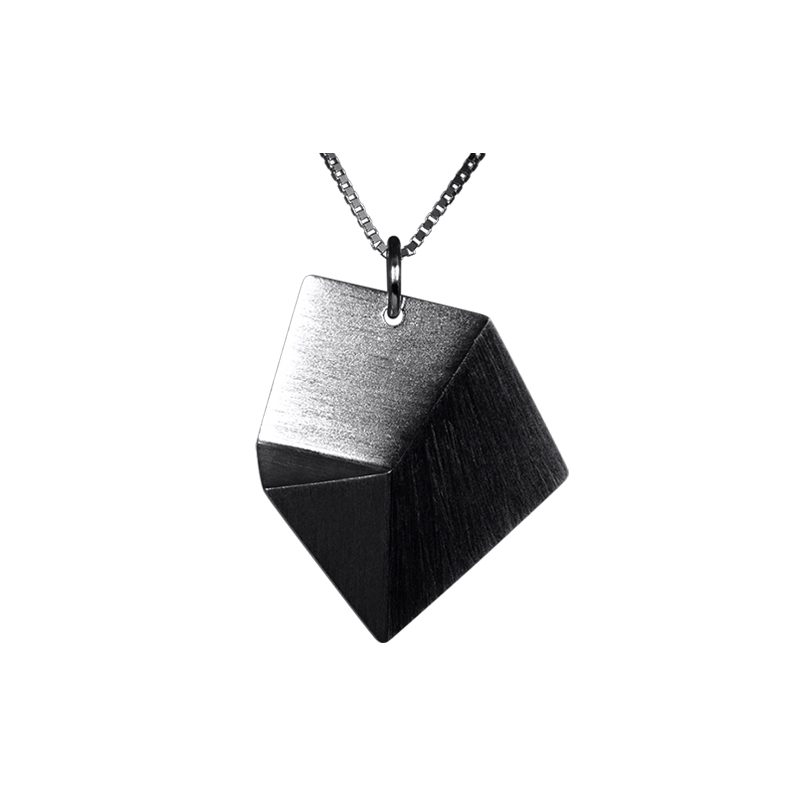 product Flake pendant necklaces M oxidized silver