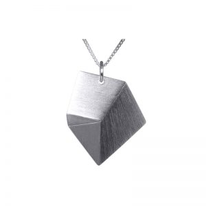 product Flake necklace M silver