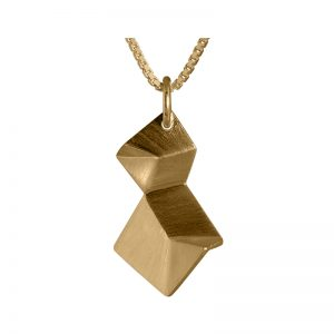 product Flake necklace double XS gold