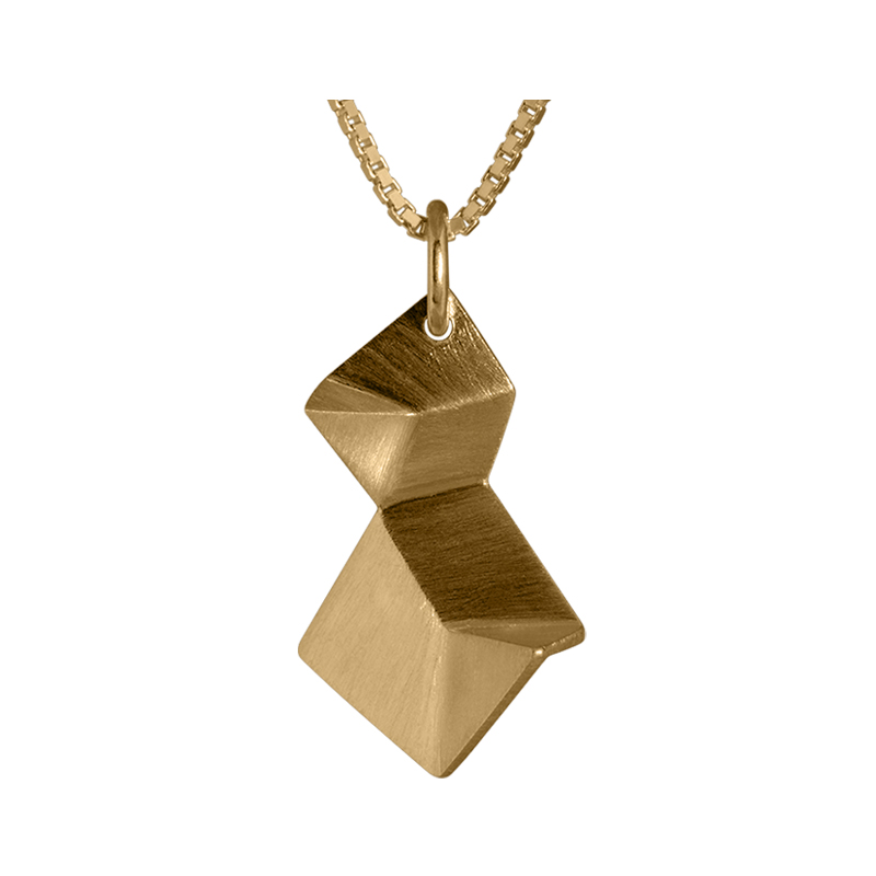 product Flake pendant necklaces double XS gold