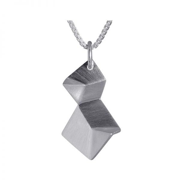 product Flake necklace double XS silver