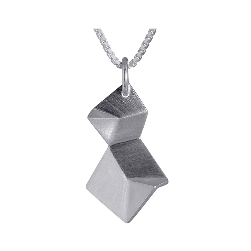 product Flake pendant necklaces double XS silver
