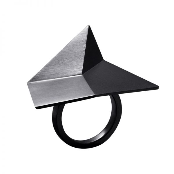 product Flake ring oxidized silver
