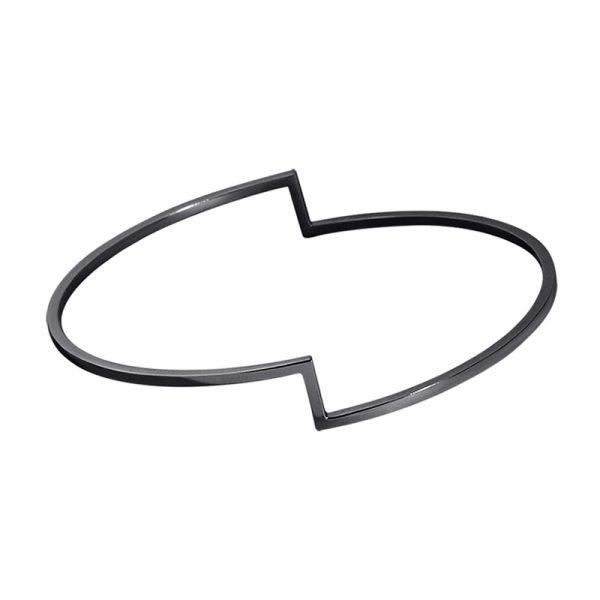 product Fold bracelet oxidized silver