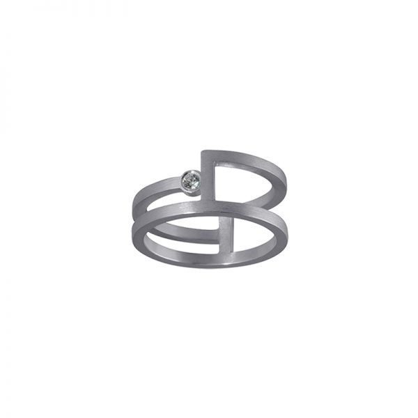 product Fold ring silver