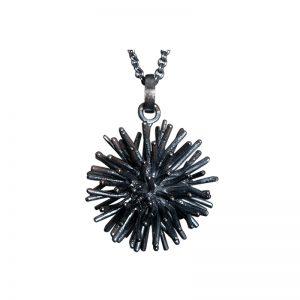 product Pompon pendant necklaces oxidized silver