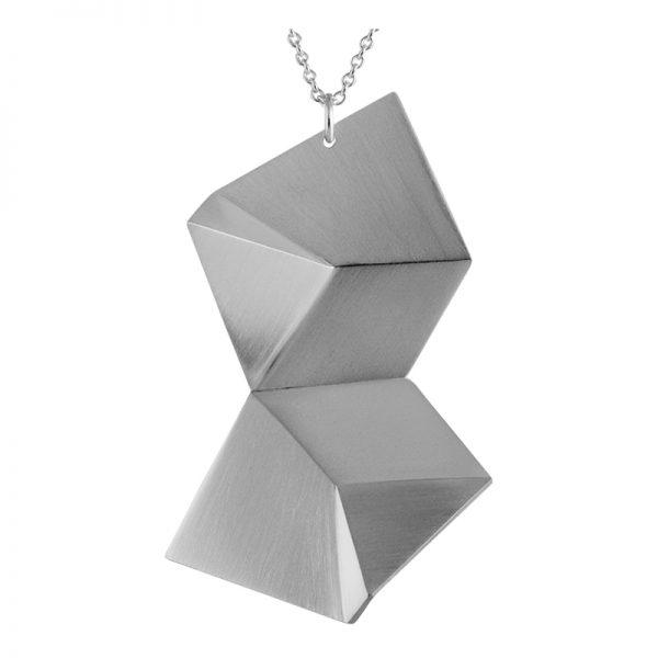 product Flake necklace DL silver