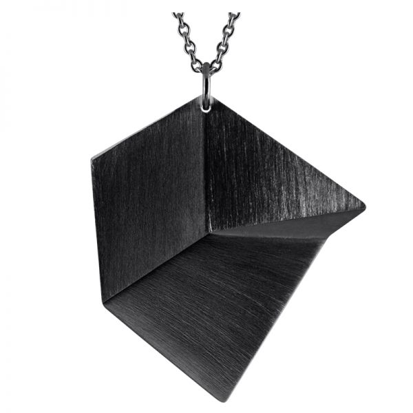 product Flake necklace L oxidized silver