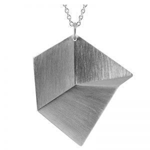 product Flake necklace L silver
